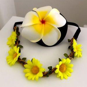 Hawaii Flower hair pin and sunflower headband